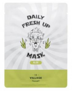 Маска с экстрактом алоэ VILLAGE 11 FACTORY Daily Fresh up Mask Aloe 20г