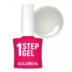 SOLOMEYA Гель-лак однофазный для ногтей, 36 серебро / One Step Gel Silver 5 мл