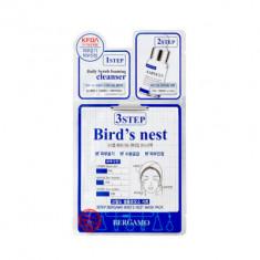 ТРЕХЭТАПНАЯ МАСКА ДЛЯ ЛИЦА с ласточкиным гнездом BERGAMO 3 STEP MASK PACK BIRD'S NEST