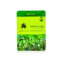 Маска с экстрактом семян зеленого чая FarmStay Green Tea Seed Visible Difference Mask Sheet 23мл