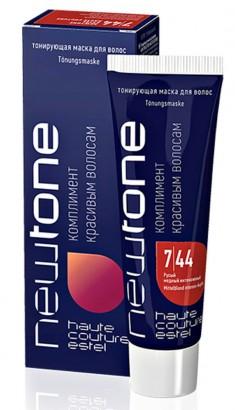 ESTEL HAUTE COUTURE 7/44 маска тонирующая для волос, русый медный интенсивный / NEWTONE 60 мл