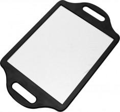 DEWAL PROFESSIONAL Зеркало заднего вида с двумя ручками, пластик, черное 36х22 см