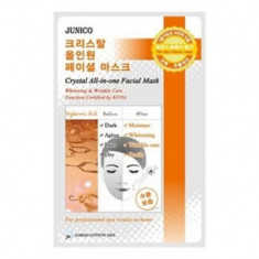 Маска тканевая c гиалуроновой кислотой Mijin Junico Crystal All-in-one Facial Mask Hyaluronic Acid 25гр