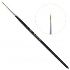 Planet nails, кисть для дизайна круглая длинная, №1, 475.1