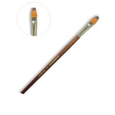 живопись, кисть художественная, овальная, синтетика, короткая ручка, №10 Polycolor