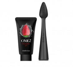 DOUBLE DARE OMG! Набор для лица от чёрных точек (пилинг-гель 30 мл + массажная щёточка) OMG! I.M. Buddy Mini Brush