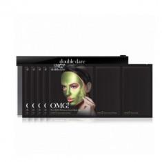 Трехкомпонентный комплекс масок УВЛАЖНЕНИЕ И СЕБОКОНТРОЛЬ Double Dare OMG! Platinum Green Facial Mask 5шт