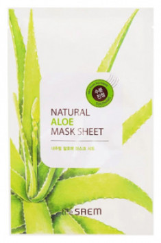 Маска тканевая с экстрактом алоэ вера THE SAEM Natural Aloe Mask Sheet 21мл