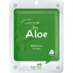 Маска тканевая с алоэ Mijin MJ CARE on Aloe mask pack 22г