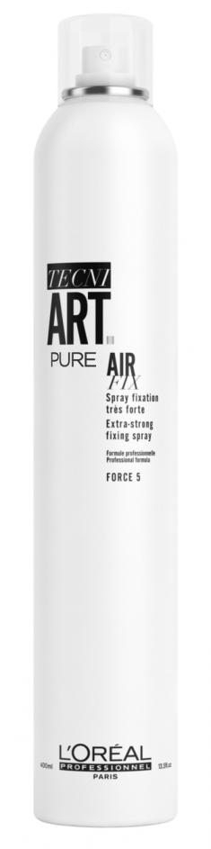 L'OREAL PROFESSIONNEL Спрей моментальной суперсильной фиксации Эр Фикс Пюр 5 (без запаха) / TECNI.ART 400 мл LOREAL PROFESSIONNEL