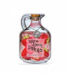 Маска тканевая с клубникой Baviphat Strawberry Juicy Mask Sheetpore & trouble 23гр