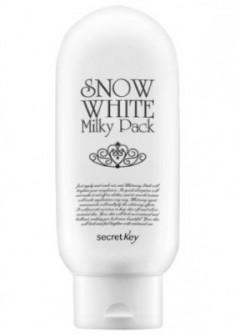 Маска отбеливающая для лица и тела SECRET KEY Snow White Milky Pack