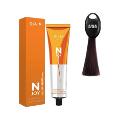 Ollin N-JOY 5/55 светлый шатен интенсивно-махагоновый перманентная крем-краска для волос 100мл OLLIN PROFESSIONAL