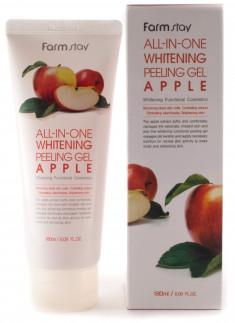FARMSTAY Гель отшелушивающий выравнивающий тон кожи, с экстрактом яблока / ALL-IN-ONE 180 мл
