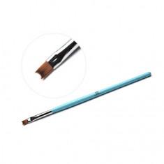 TNL, Кисть для дизайна фигурная «Полукруг», голубая TNL Professional