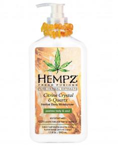 HEMPZ Молочко увлажняющее для тела с мерцающим эффектом Желтый Кварц / Fresh Fusion Citrine Crystal & Quartz Body Moisturizer 500 мл