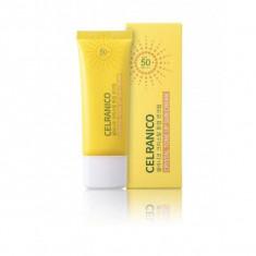 солнцезащитный крем для лица, выравнивающий тон кожи celranico crystal tone up sun cream spf50/pa+++