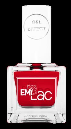 E.MI 030 лак ультрастойкий для ногтей, Безупречный красный / E.MiLac Gel Effect 9 мл