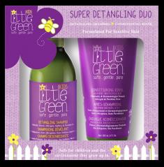 LITTLE GREEN Набор для облегчения расчесывания и распутывания волос, для детей от 12 месяцев / KIDS