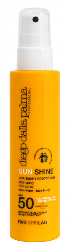 DIEGO DALLA PALMA PROFESSIONAL Спрей-молочко для взрослых и детей с 3 лет SPF 50 / SUN SHINE MILK SPRAY face-body FAMILY PROTE 150 мл