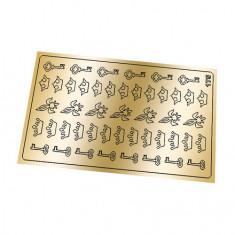 Freedecor, Металлизированные наклейки №175, золото