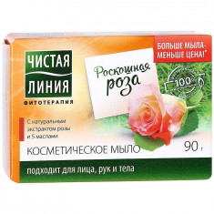 Чистая Линия мыло Роза 90 г ЧИСТАЯ ЛИНИЯ