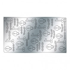 Freedecor, Металлизированные наклейки №202, серебро