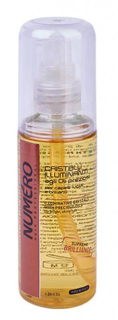 BRELIL PROFESSIONAL Кристаллы жидкие для придания бриллиантового блеска волосам, с маслом арганы и макадамии / Numero 75 мл