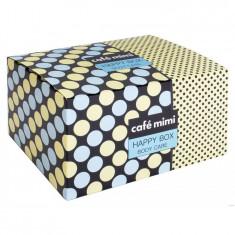 Кафе Красоты Набор подарочный для ухода за телом HAPPY BOX молочко 150мл + соль 100г + мыло 100г + мочалка КАФЕ КРАСОТЫ