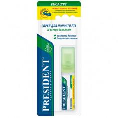 Президент Спрей для полости рта со вкусом эвкалипта без спирта 20мл President