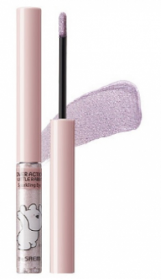 Тени для глаз сияющие THE SAEM Over Action Little Rabbit Eco Soul Sparkling Eye 05 Pink Tail 2,7г