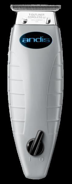 ANDIS Триммер для стрижки волос T-OUTLINER 0.1 мм, аккумуляторно-сетевой, 4 насадки