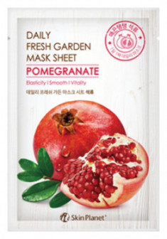 Маска для лица тканевая гранат Mijin Skin Planet daily fresh garden mask sheet POMEGRANATE 25г