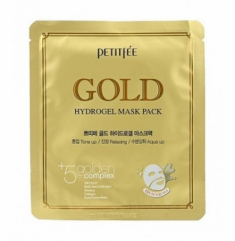 Маска гидрогелевая c ЗОЛОТОМ PETITFEE Gold Hydrogel Mask Pack 32г*5 шт