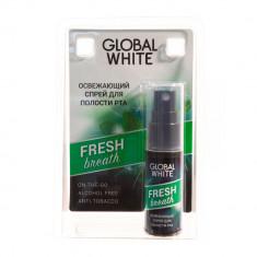 Global white Освежающий спрей для полости рта Олива и петрушка 15мл