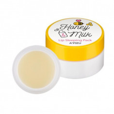 маска для губ ночная a'pieu honey & milk lip sleeping pack