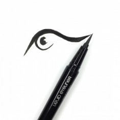Подводка-фломастер MAKE-UP-SECRET черная Liquid Eyeliner Pen