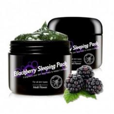выравнивающая ночная маска-пуддинг с ежевикой medi flower mediflower blackberry sleeping pack