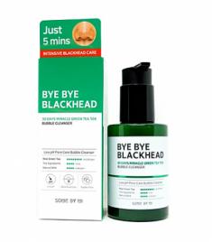 Пенка-маска от черных точек SOME BY MI BYE BYE BLACKHEAD 30 DAYS MIRACLE GREEN TEA TOX BUBBLE CLEANSER 120г
