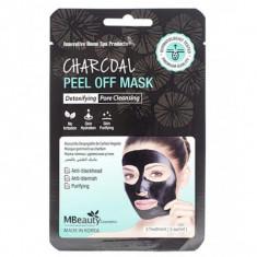 маска-пленка с древесным углем для очищения пор mbeauty charcoal peel off mask