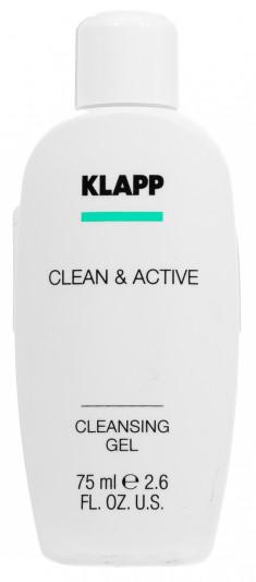 KLAPP Гель очищающий для лица / CLEAN & ACTIVE 75 мл