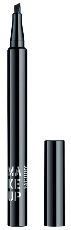 MAKE UP FACTORY Подводка жидкая для глаз, 01 черный / Full Dimension Liquid Liner 1 мл