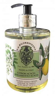 LA FLORENTINA Мыло натуральное жидкое, акация и цитрон / Acacia & Citron 500 мл