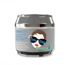 маска для лица глиняно-пузырьковая очищающая baviphat urban city carbonated charcoal clay beer mask