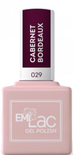 E.MI 029 гель-лак для ногтей, Каберне Бордо / E.MiLac 9 мл