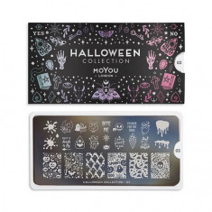 MoYou London, Плитка для стемпинга Halloween №03