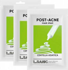 Тканевая маска с экстрактом центеллы азиатской против постакне L.SANIC CENTELLA ASIATICA POST-ACNE MASK SHEET 25мл*3шт