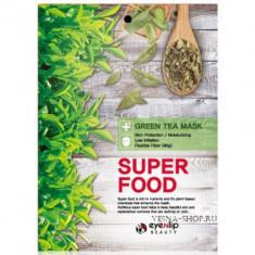 Маска для лица тканевая с зеленым чаем EYENLIP SUPER FOOD GREEN TEA MASK 23мл