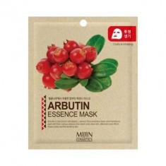 Маска для лица тканевая Арбутин ARBUTIN ESSENCE MASK 25г Mijin
