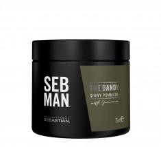 SEB MAN Крем-воск для укладки волос легкой фиксации / THE DANDY 75 мл